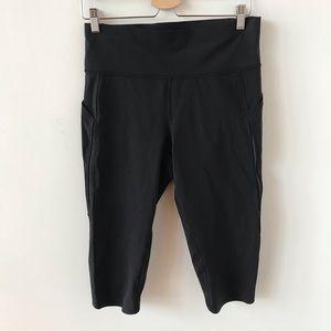 Lululemon black knee length leggings